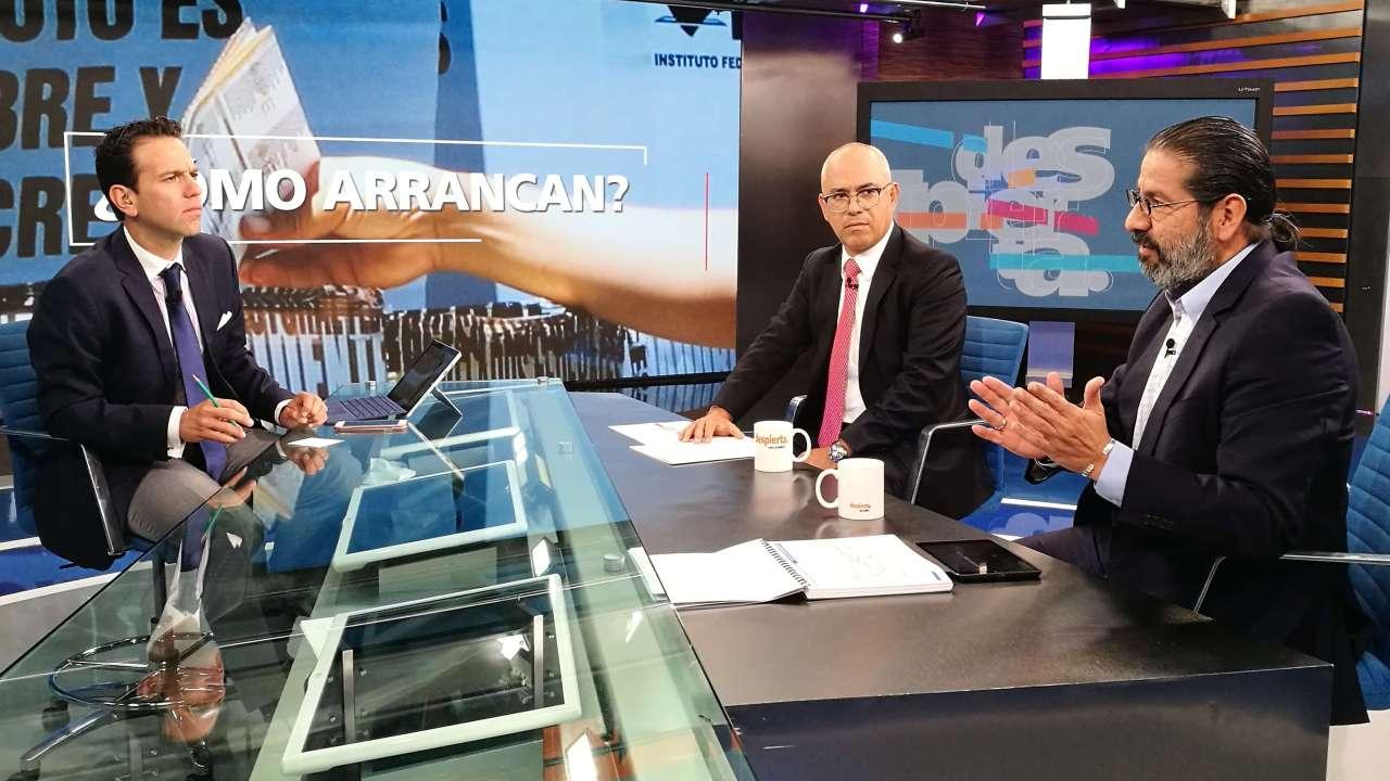 Francisco Abundis y Jorge Buendía en Despierta con Loret