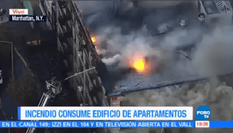 Incendio Consume Edificio Nueva York Enorme