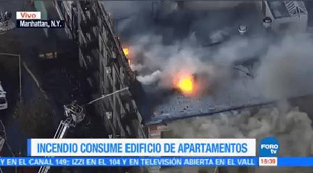 Incendio Consume Edificio Nueva York Enorme