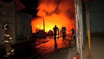 incendio en fabrica de mezclilla y comedor