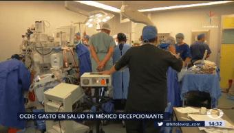 Inversión Salud México inquietante Ocde