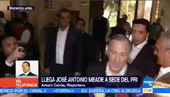 José Antonio Meade Llega Sede Pri Exsecretario De Hacienda
