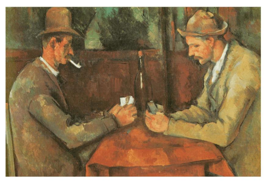'Les Joueurs de cartes', de Paul Cezanne