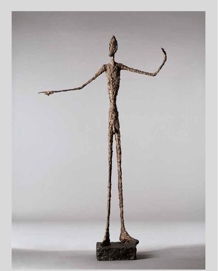 'L'homme au doigt', escultura de Alberto Giacometti. (http://www.theartwolf.com)