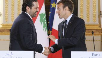 Hariri acepta oferta de Macron de viajar a París para solucionar crisis