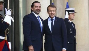 Macron invita al primer ministro libanés Saad Hariri a Francia