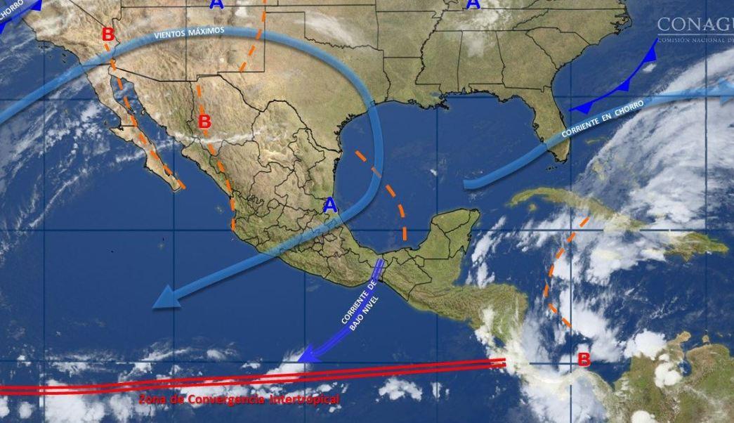 mapa con el clima para este 14 de noviembre