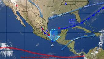 mapa con el clima para este 20 de noviembre