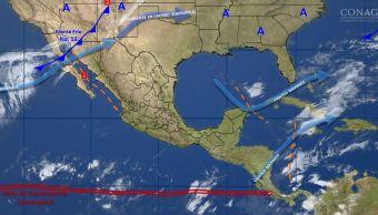 Mapa con el pronóstico del clima para este 28 de noviembre; prevén ambiente frío y posibles torbellinos al norte. (SMN)