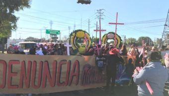 Realizan marcha contra feminicidios en el Edomex