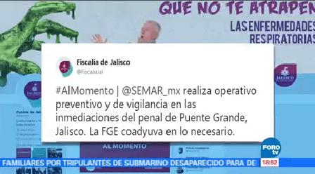 Marina Realiza Operativo Penal Puente Grande Jalisco