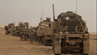 Marines de EU en la frontera entre Irak y Siria