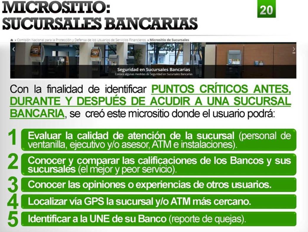 Condusef presenta micrositio de sucursales bancarias