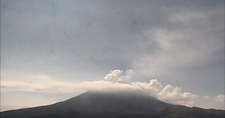Monitoreo del volcán Popocatépetl del jueves 2 de noviembre