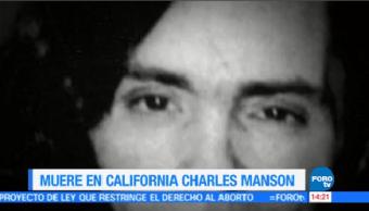 Muere Charles Manson 83 Años Domingo Murió