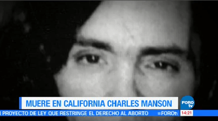 Muere Charles Manson 83 Años Domingo Murió