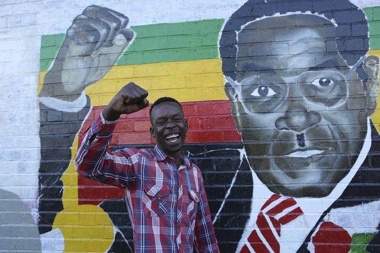 Estudiantes y veteranos de guerra de Zimbabue exigen la renuncia de Mugabe