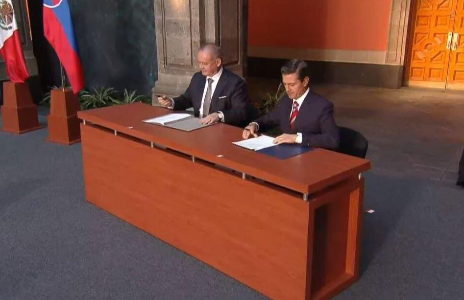 Recibe Peña visita de Estado del Presidente de la República Eslovaca