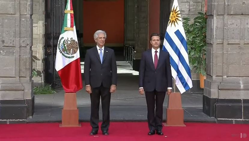 peña recibe al presidente de uruguay