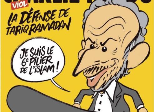 Portada del Charlie Hebdo donde caricaturiza a Tariq Ramadan