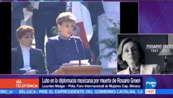 Presidenta Foro Internacional Mujeres Capítulo México Lamenta Muerte Green