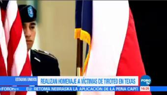 Realizan Homenaje Víctimas Tiroteo Texas