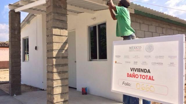 Reconstrucción de viviendas en Jiquipilas, Chiapas, con 70% de avances