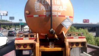Recuperan pipa robada con 30 mil litros de diésel en Nuevo León