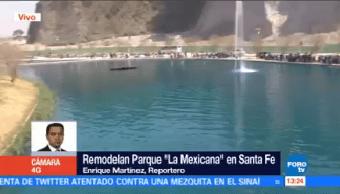 Remodelan Parque La Mexicana Santa Fe Cdmx