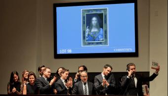 'Salvator Mundi' fue subastada en la casa Christie's en NY