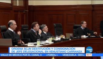 SCJN ordena destituir al delegado en Venustiano Carranza