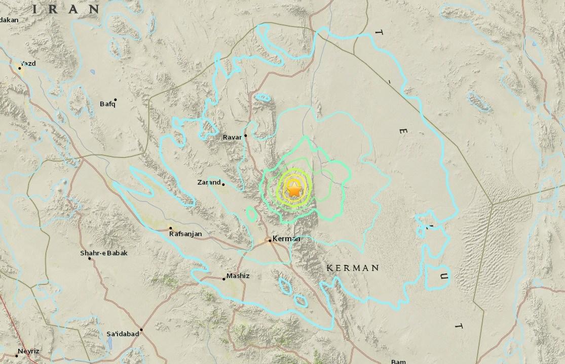 Sismo magnitud 6 sacude sureste Irán