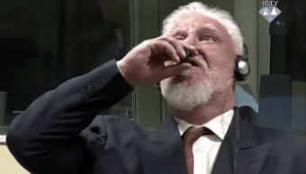 Sloban Praljak tomó el veneno durante el juicio TPIY