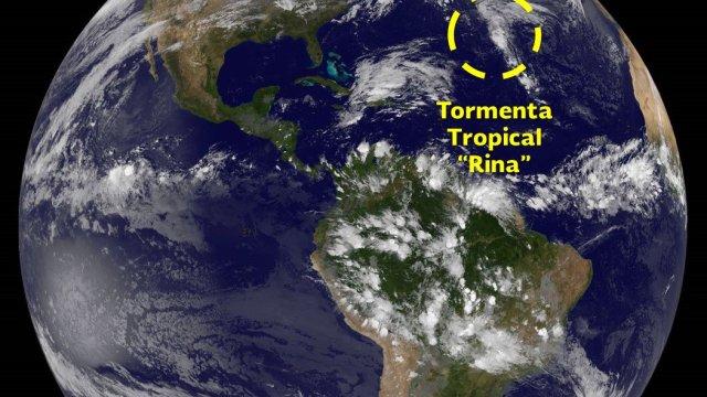 Tormenta tropical Rina se forma Atlántico