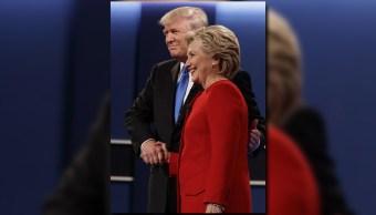Donald Trump y Hillary Clinton durante uno de los debates