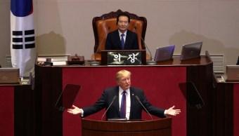 Trump ofrece discurso Asamblea Nacional Surcorea