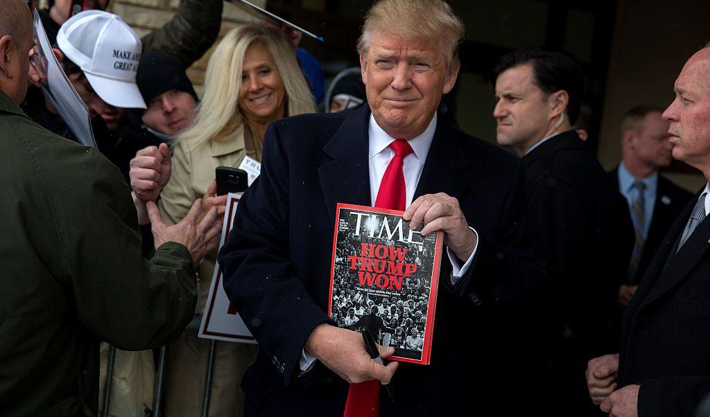 Trump asegura que rechazó ser persona año revista Time