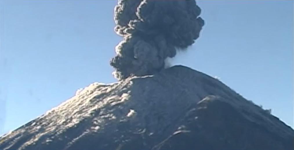 Se registran dos sismos volcatectónicos en el Popocatépetl
