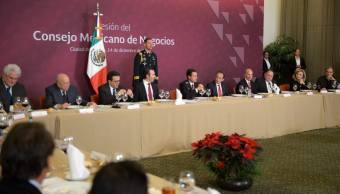 pena nieto se reune con miembros del consejo mexicano de negocios