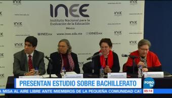 INEE revela resultados de estudio sobre oferta educativa en bachillerato