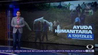 Chiapas envía ayuda humanitaria para tzotziles desplazados