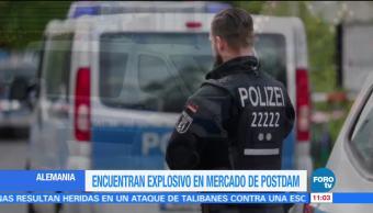 Descubren artefacto explosivo en mercado de Navidad de Potsdam, Alemania
