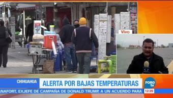 Alerta por bajas temperaturas en Chihuahua