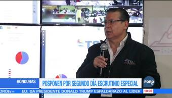 Tribunal Supremo Electoral de Honduras pospone escrutinio de actas
