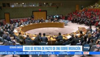 EU se retira del pacto mundial de la ONU sobre migrantes refugiados