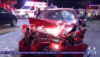 Accidente en la México-Cuernavaca deja al menos 5 heridos