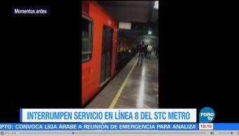 Interrumpen servicio en Línea 8 del Metro CDMX