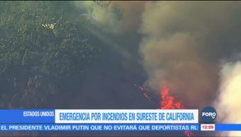 California declara emergencia por varios incendios forestales