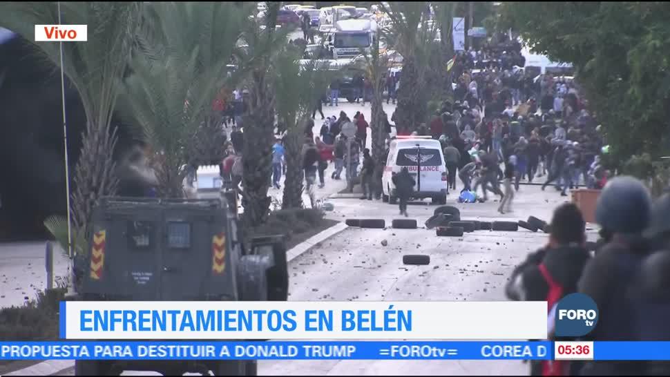 Disturbios en Belén tras reconocimiento de Trump a Israel como capital de Jerusalén