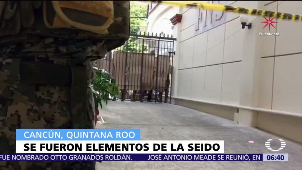 Seido se retira de las instalaciones de 'First National Security' en Cancún